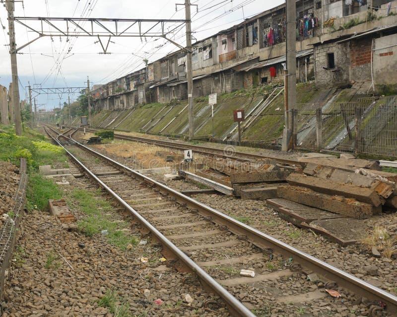 Empty commuter line railway photo taken in Bogor Indonesia. An empty commuter line railway photo taken in Bogor Indonesia java royalty free stock photo