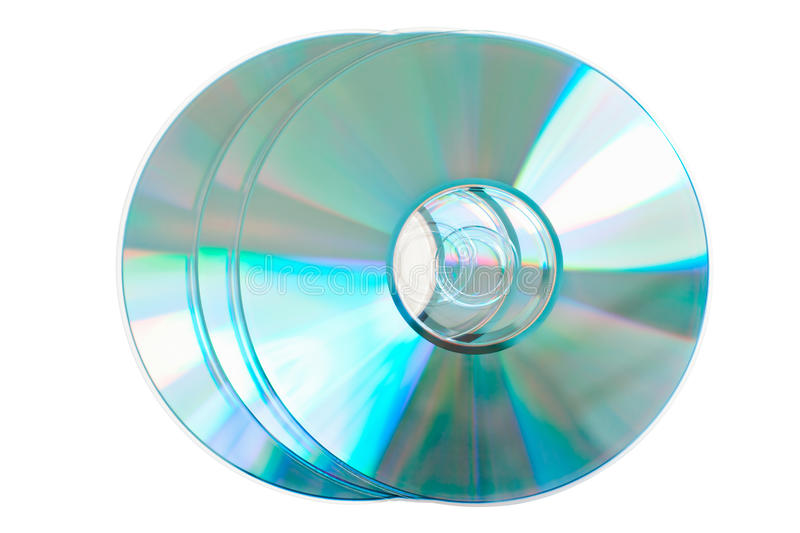 Empty compact discs royalty free stock images