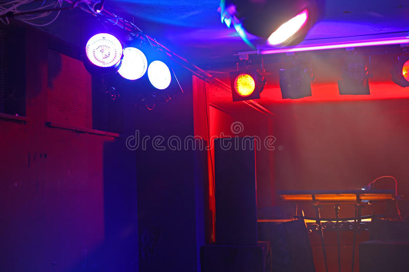 Empty concert stage royalty free stock image