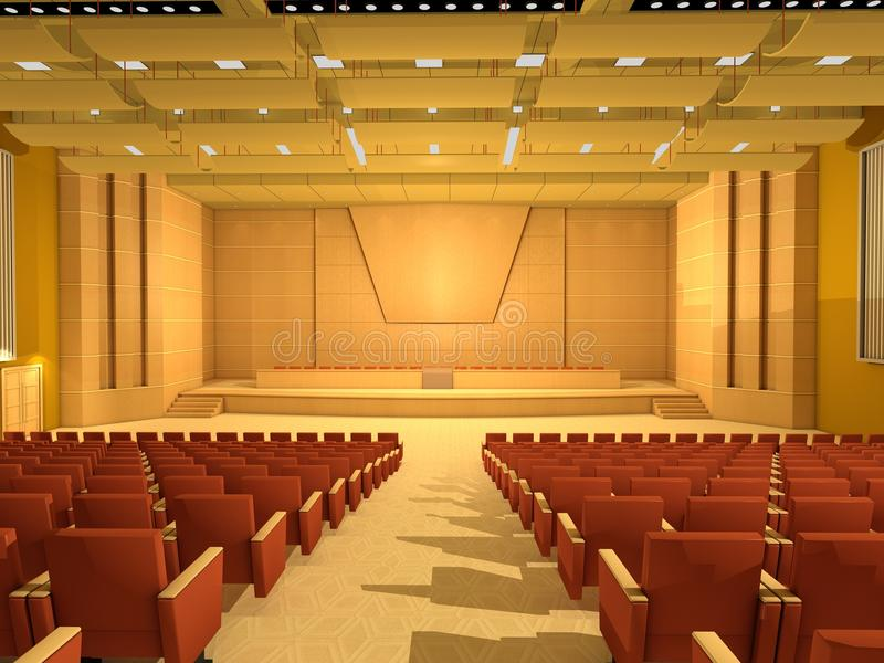 Empty Conference hall or room stock illustration