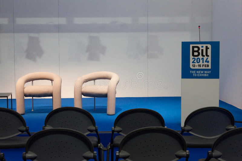 Download Empty Conference Room At Bit 2014, International Tourism Exchange In Milan, Italy Editorial Photography - Image: 37907212