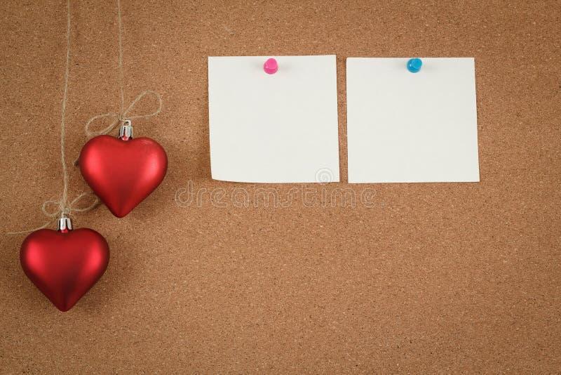 Empty Cork Board For Valentine Message Stock Photos