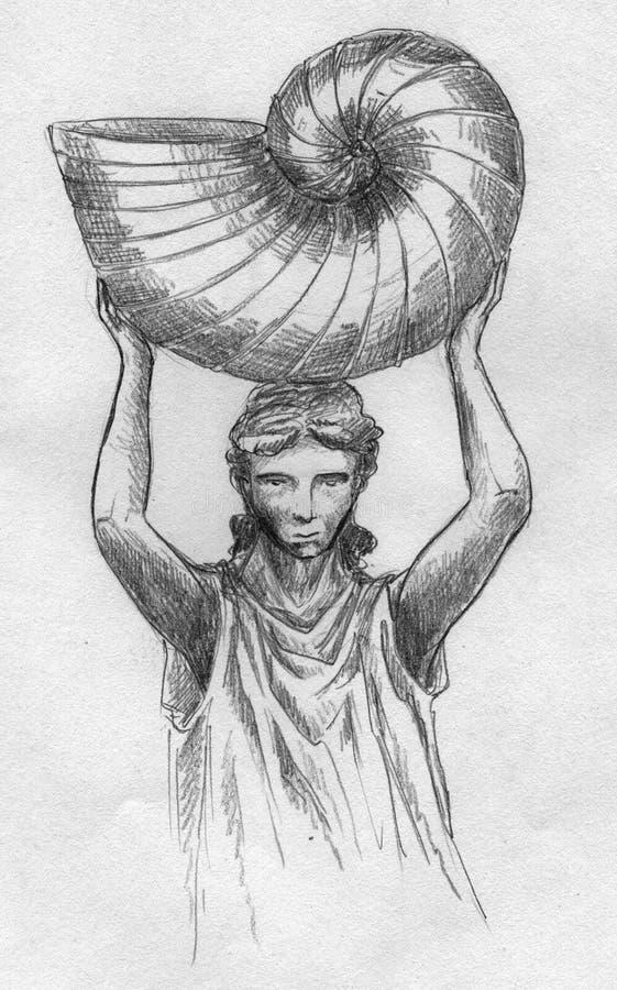 Download Empty cornucopia stock illustration. Image of drawing - 26793077