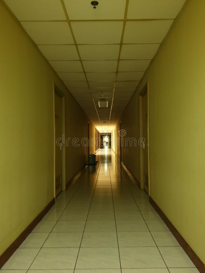 The empty corridor stock photo