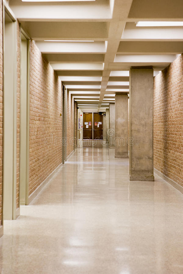 Empty corridor royalty free stock photo