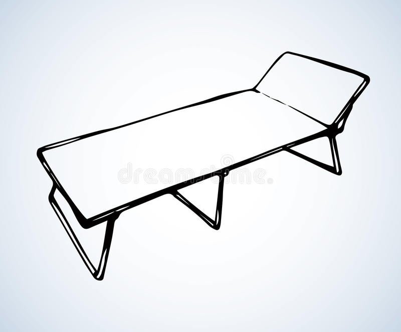 Camp bed. Vector drawing vector illustration