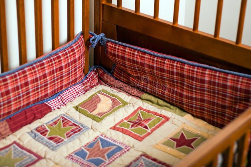 Empty crib royalty free stock photo