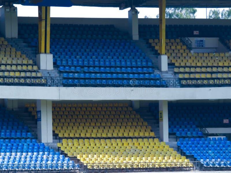 Empty Cricket Stadium. stock images