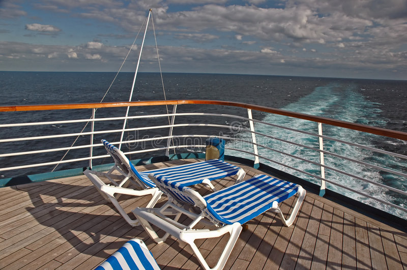Empty Cruise Deck royalty free stock images