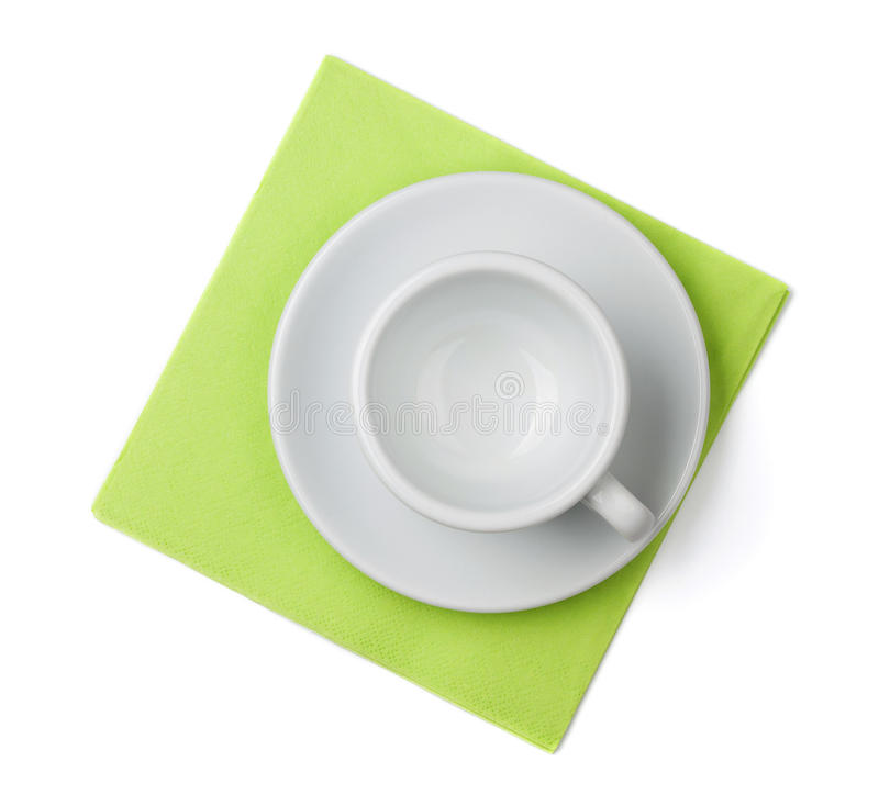 Download Empty cup on placemat stock photo. Image of placemat - 15497454