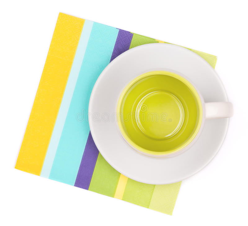 Download Empty cup on placemat stock photo. Image of simple, napkin - 15519762