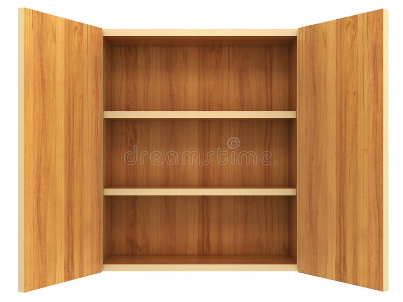 Empty cupboard. Isolated on white background royalty free illustration
