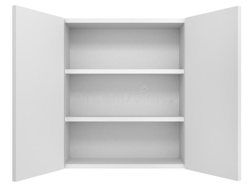 Empty cupboard. Isolated on white background vector illustration