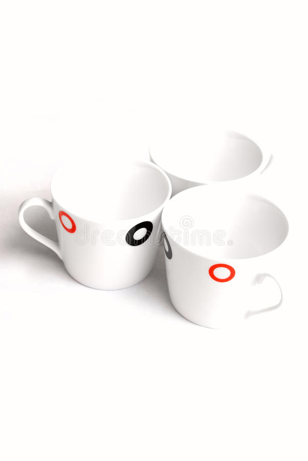 Download Empty cups stock photo. Image of three, objects, espresso - 20982356