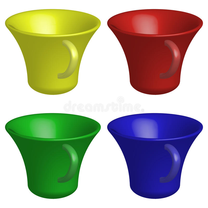 Download Empty cups stock vector. Illustration of espresso, icon - 23737161