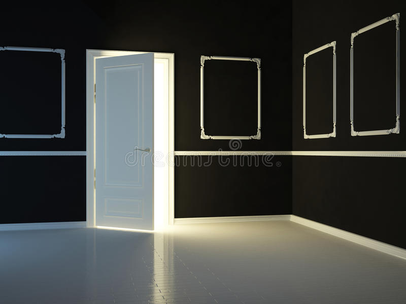 Download Empty, Dark, Black, Classic Room Stock Illustration - Illustration of handle, light: 23620523