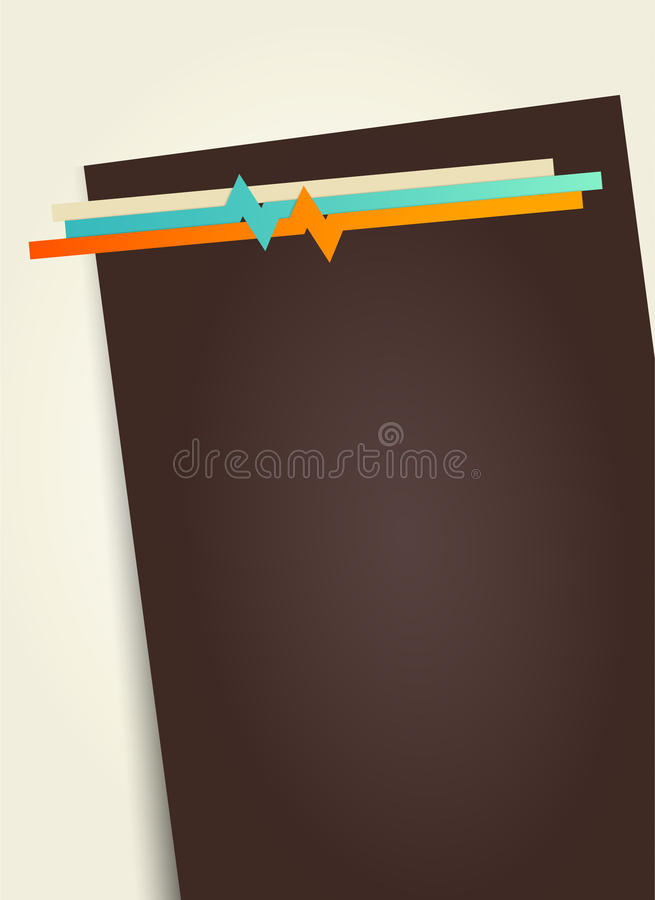 Empty Dark Paper For Your Own Text. Stock Photos