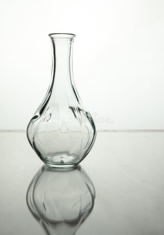 Empty decorative glass vase stock photography