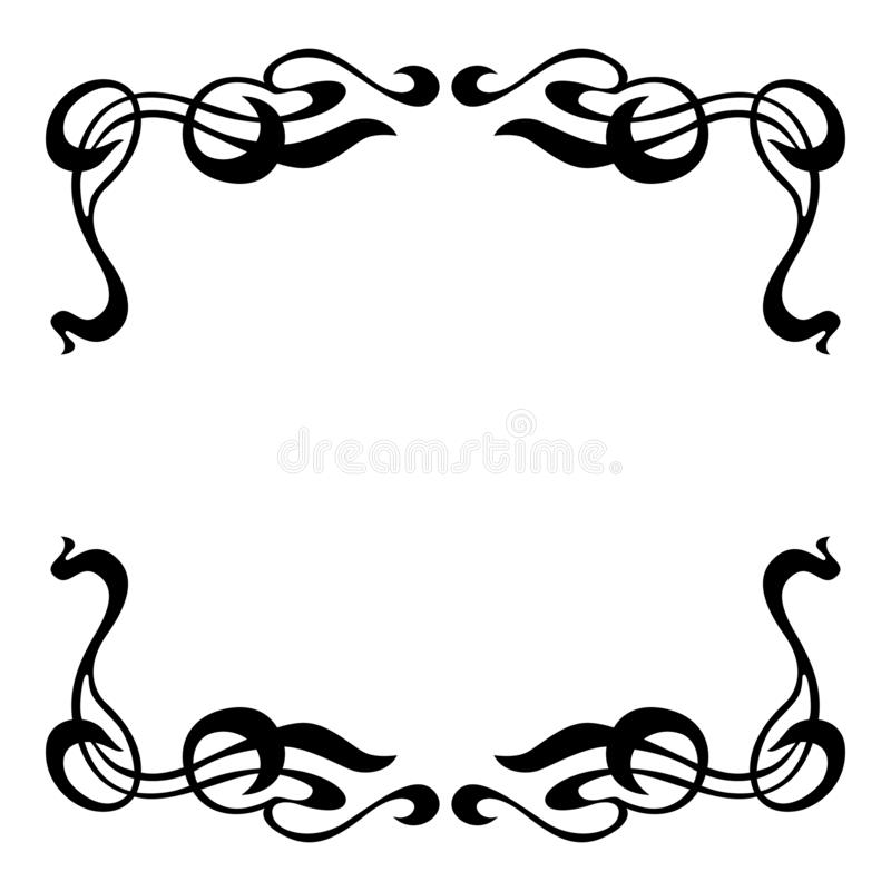 Empty decorative vintage frame. royalty free stock images