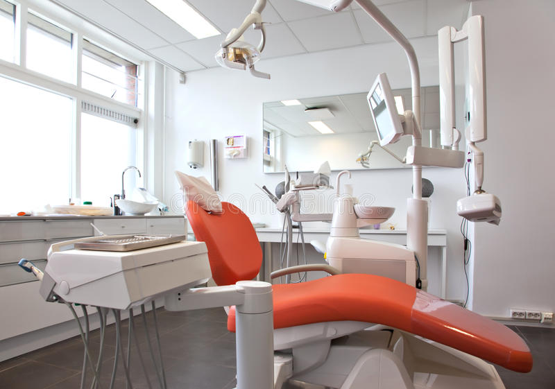 Empty dental room. Empty modern new dental cabinet royalty free stock photo
