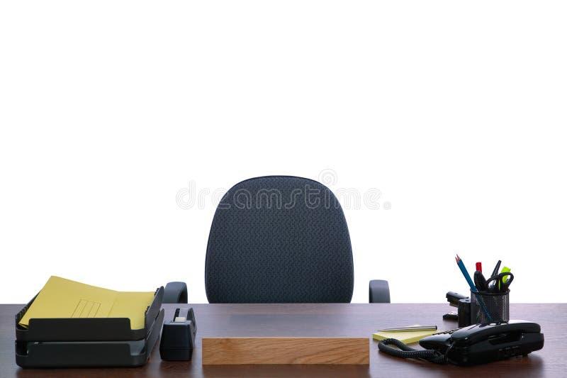 Empty desk stock image