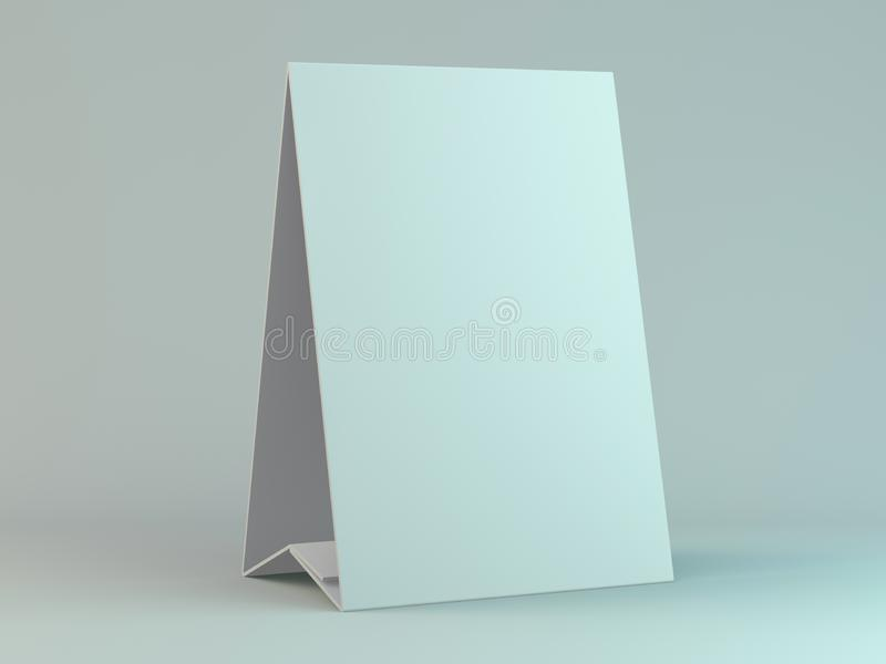 Empty desk calendar on table. Mockup design concept. 3D. Rendering royalty free illustration