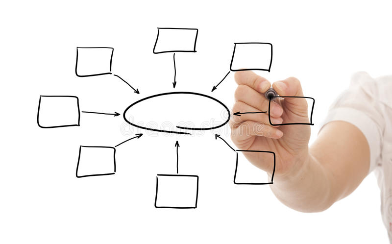 Download Empty Diagram On Whiteboard Stock Photo - Image: 16324340