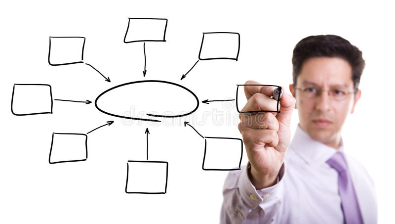 Download Empty Diagram On Whiteboard Stock Image - Image: 16324595