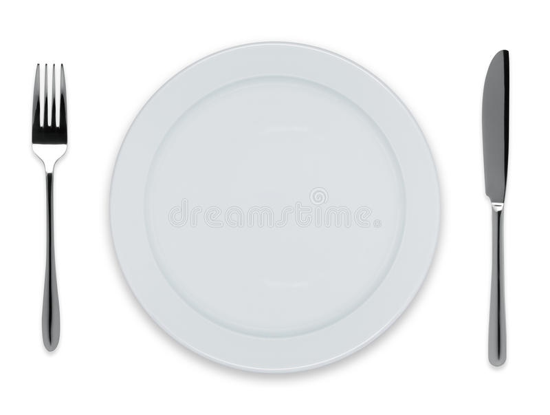 Download Empty dinner plate stock image. Image of steel, equipment - 26248005