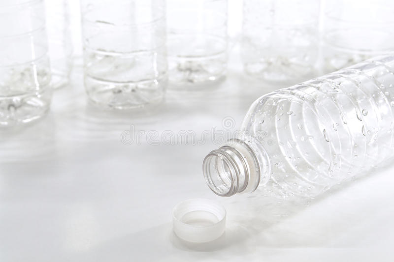 Empty Discarded Trash Plastic Water Bottle royalty free stock image