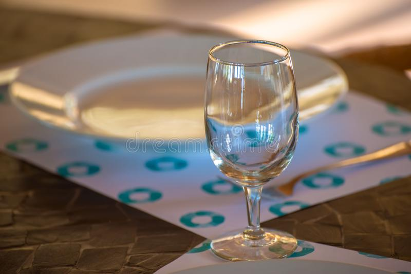 Table set in restaurant royalty free stock photos