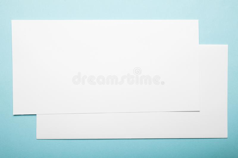 Empty Dl flyer, first and last page.  royalty free stock photography