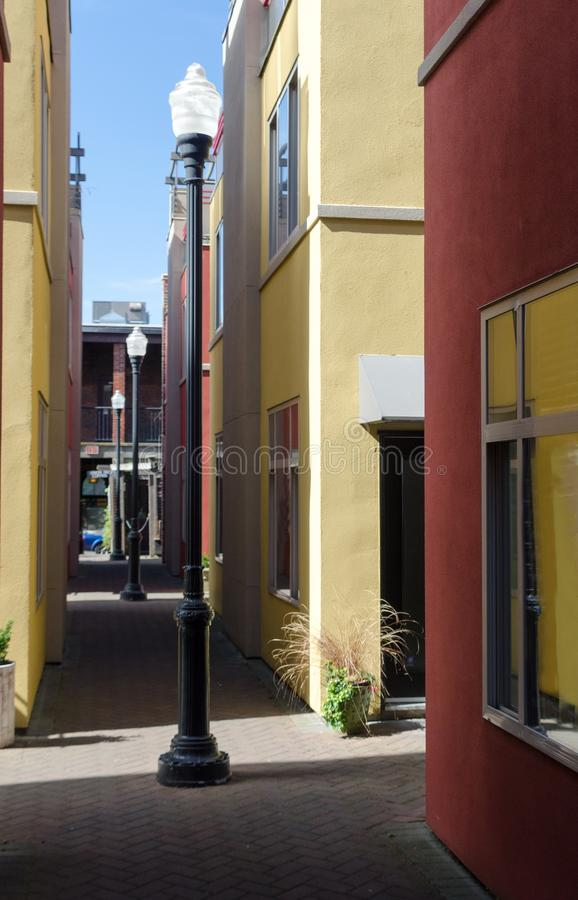 Empty Dragon Alley in Victoria downtown royalty free stock image