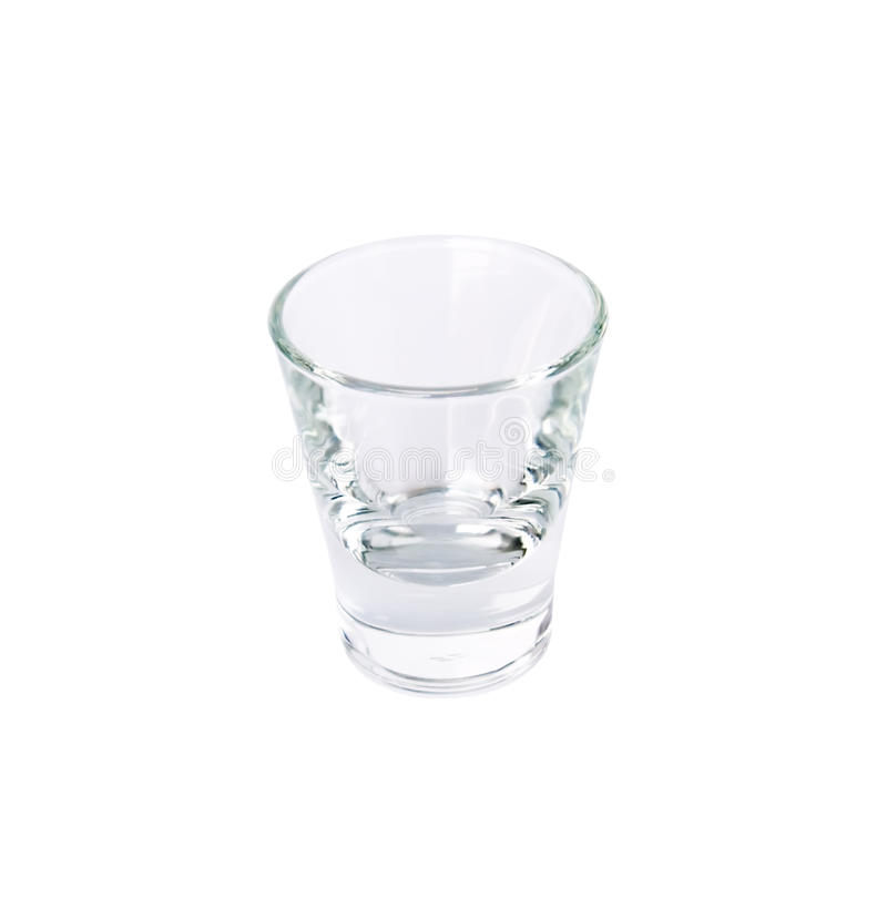 Empty drinking glass. On a white background stock photography