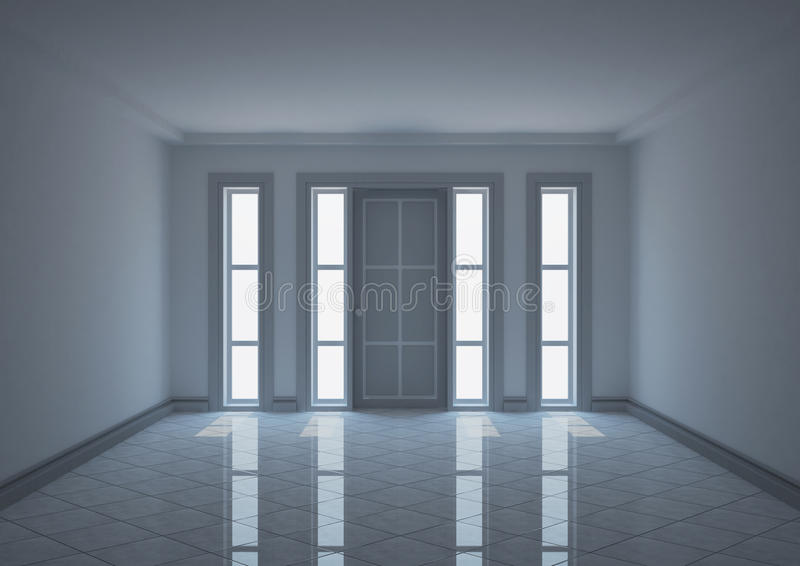 Narrow Foyer Xl : Empty entrance hall with narrow windows royalty free stock