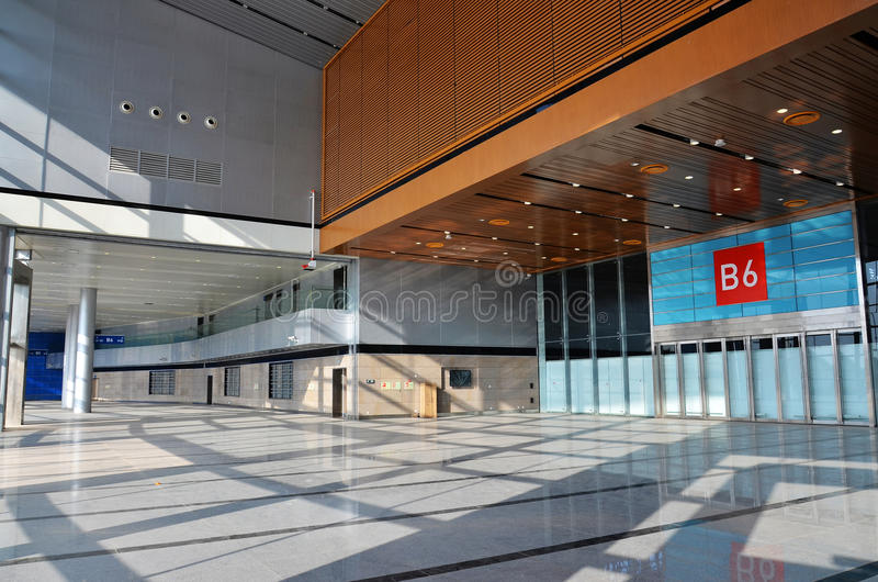 Empty exhibition hall stock photography