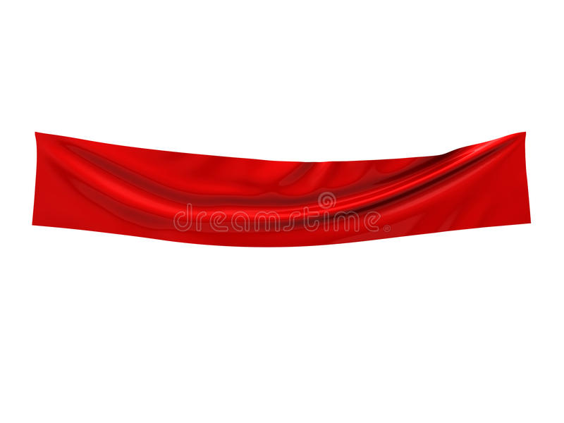 Empty Fabric Banner Royalty Free Stock Photos