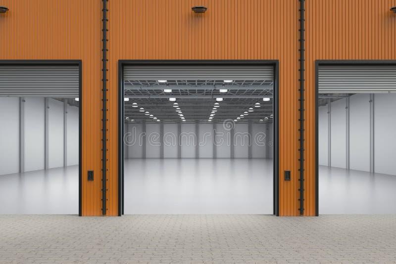 Empty factory interior stock image