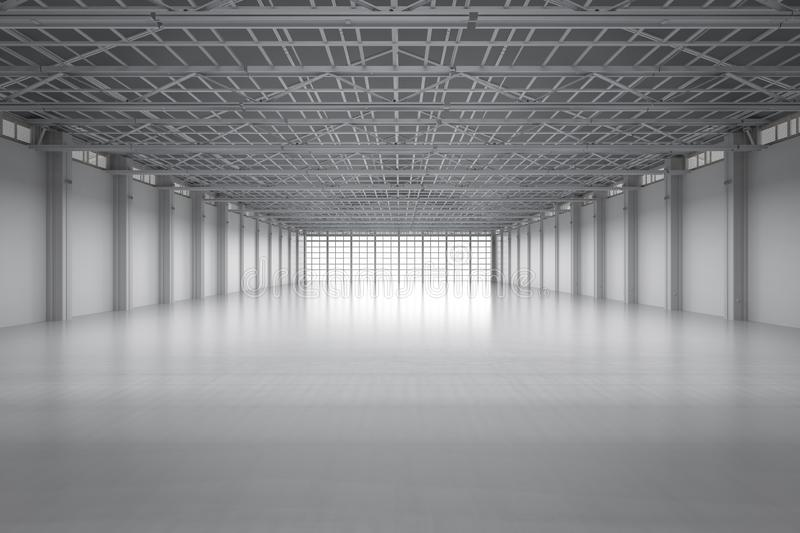 Empty factory interior stock images