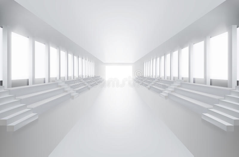 Empty fashion runway. Vector illustration. vector illustration