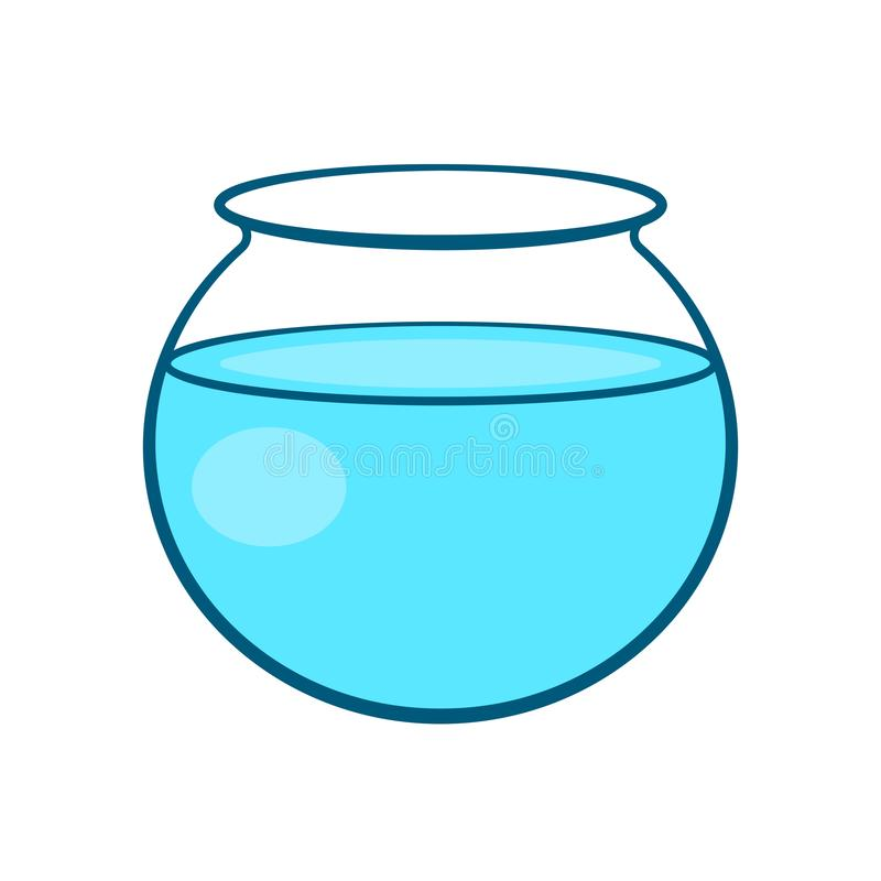 Empty fish bowl icon royalty free illustration