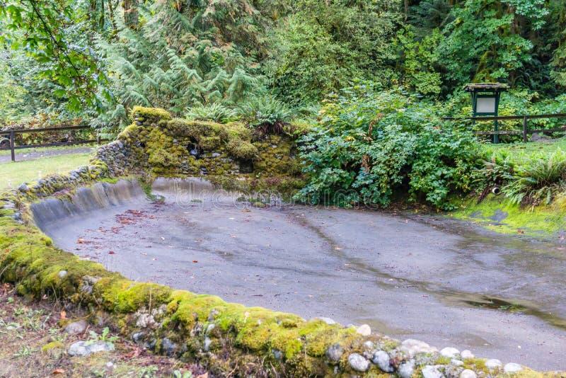 Empty Fish Pond stock photos