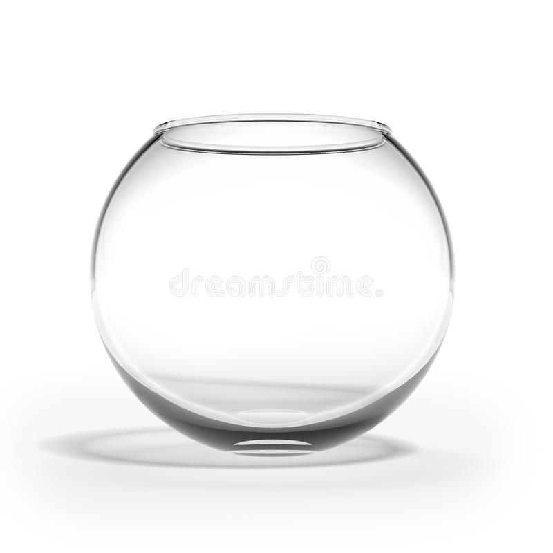 Empty fishbowl stock photos