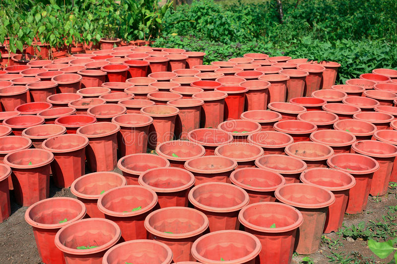 Download Empty flower pots stock photo. Image of pile, life, terracotta - 16780568