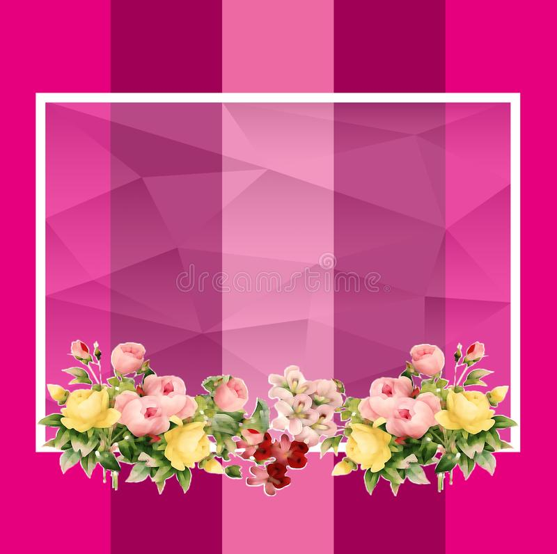 Empty flowers frame royalty free illustration