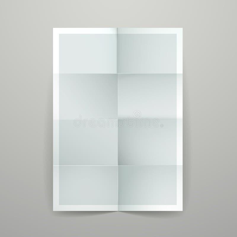 Empty folded paper booklet vector illustration