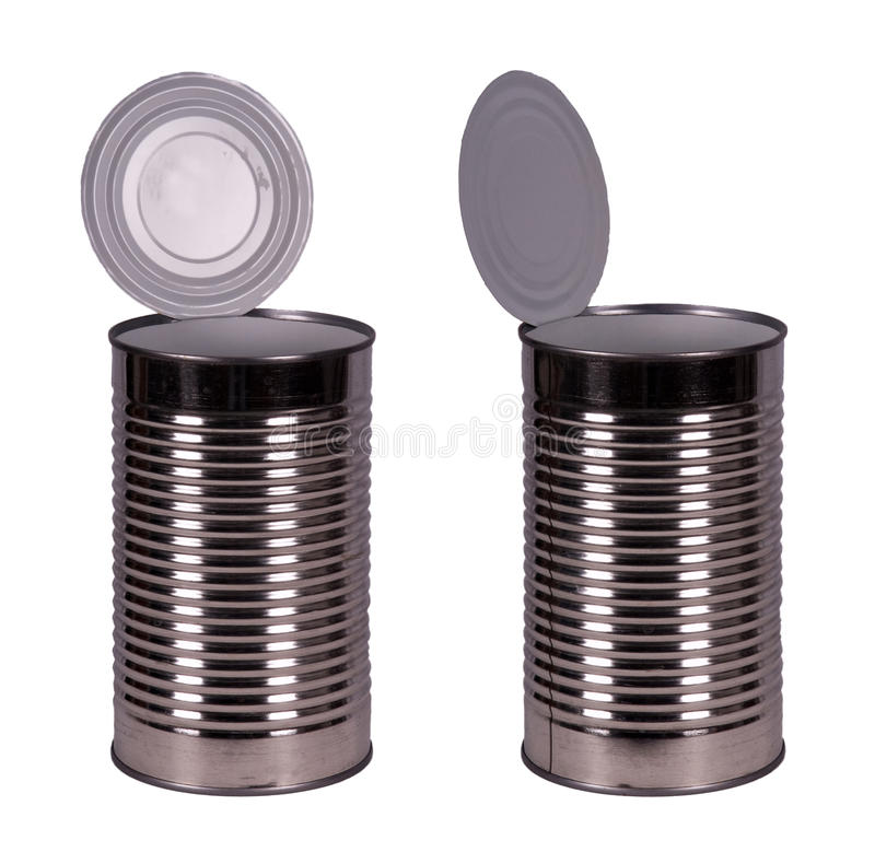 Download Empty Food Tin Can Container Isolated On White Royalty Free Stock Image - Image: 22484276