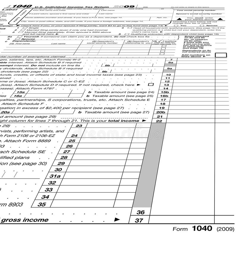 Empty Form 1040 Blank Taxes Stock Photo Image Of Background