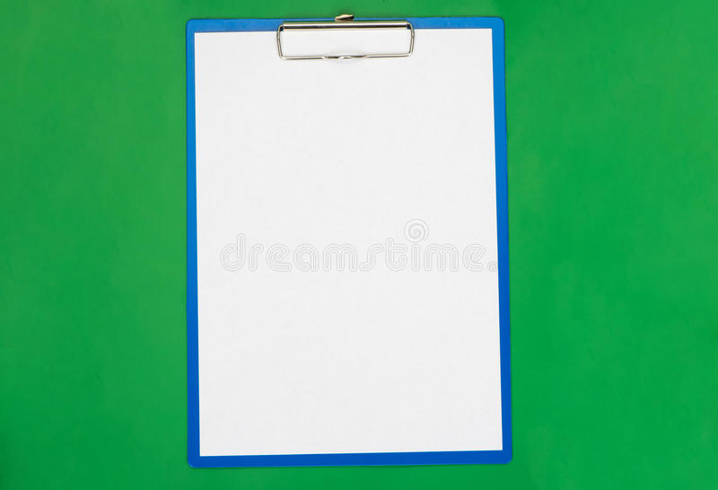 The empty form for the documents. On the table royalty free stock image
