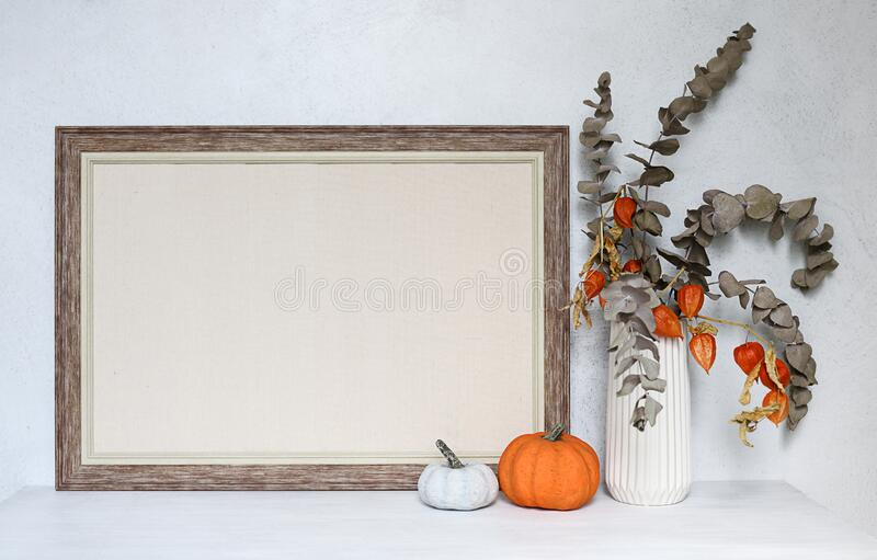 Empty frame with autumnal composition stock images